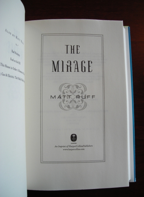 Mirage title page